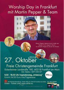 Worship Day in Frankfurt am Main mit Martin Pepper & Team @ Freie Christengemeinde Frankfurt | Frankfurt am Main | Hessen | Deutschland